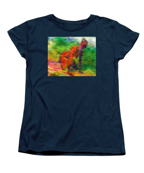 Angelie And The Kneeboard Women's T-Shirt (Standard Cut) by Caito Junqueira