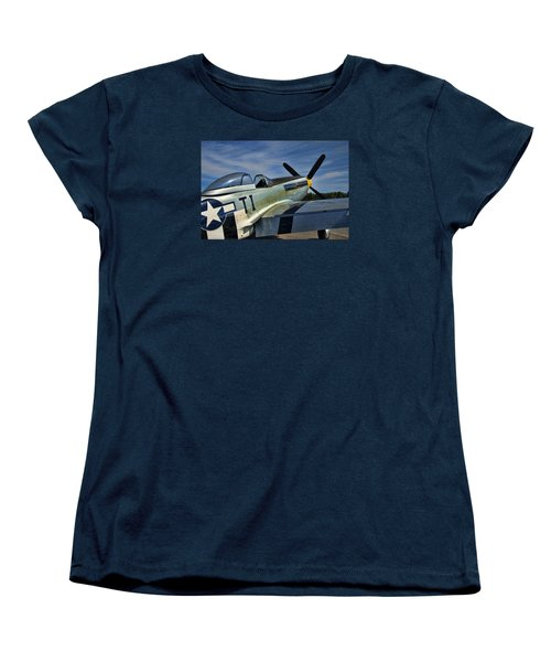 Women's T-Shirt (Standard Cut) featuring the photograph Angels Playmate P-51 by Steven Richardson