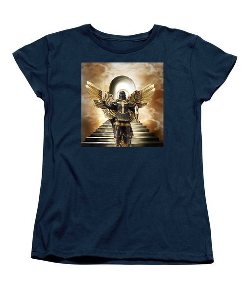 Women's T-Shirt (Standard Cut) featuring the digital art Angels Watching Over Me by Karen Showell