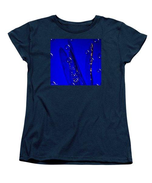 Angels Wings Blue Women's T-Shirt (Standard Cut) by Joyce Dickens