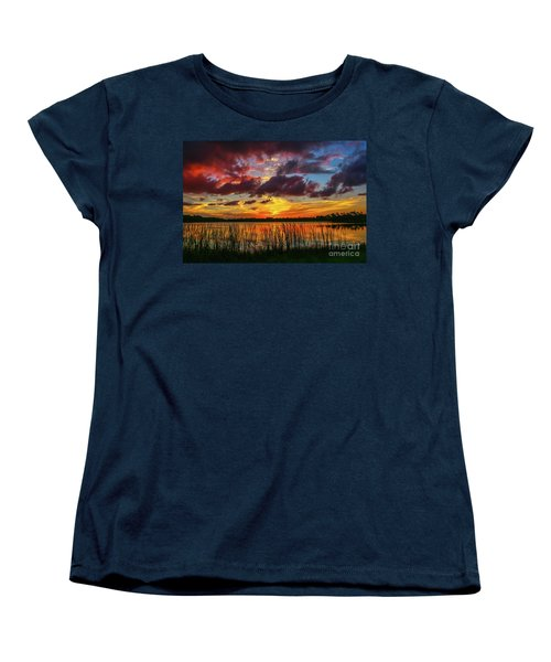 Angry Cloud Sunset Women's T-Shirt (Standard Cut) by Tom Claud