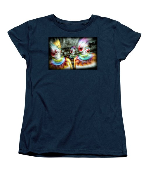 Women's T-Shirt (Standard Cut) featuring the photograph Angry Clowns by Wayne Sherriff