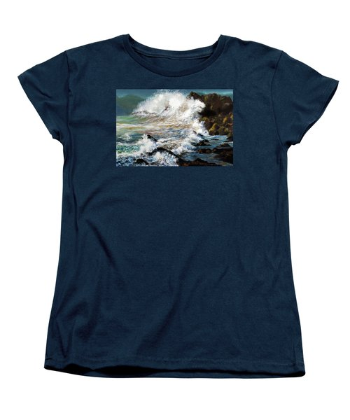 Angry Sea Women's T-Shirt (Standard Cut) by Walter Fahmy