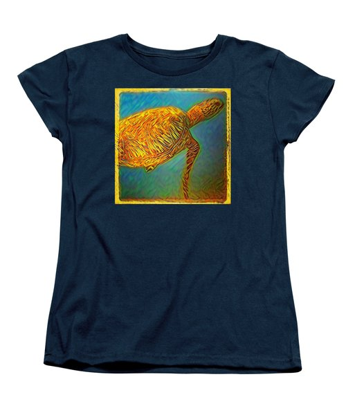 Women's T-Shirt (Standard Cut) featuring the digital art Annabelle The Turtle by Erika Swartzkopf