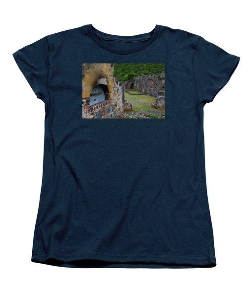 Women's T-Shirt (Standard Cut) featuring the photograph Annaberg Sugar Mill Ruins At U.s. Virgin Islands National Park by Jetson Nguyen