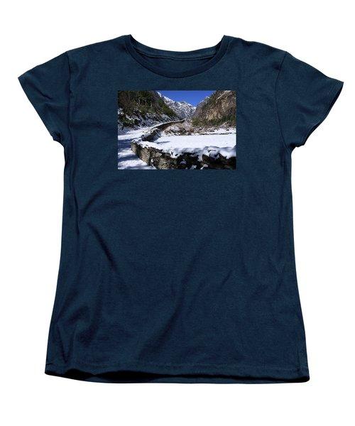 Women's T-Shirt (Standard Cut) featuring the photograph Annapurna Circuit Trail by Aidan Moran