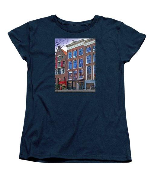 Anne Frank Home In Amsterdam Women's T-Shirt (Standard Cut) by Al Bourassa