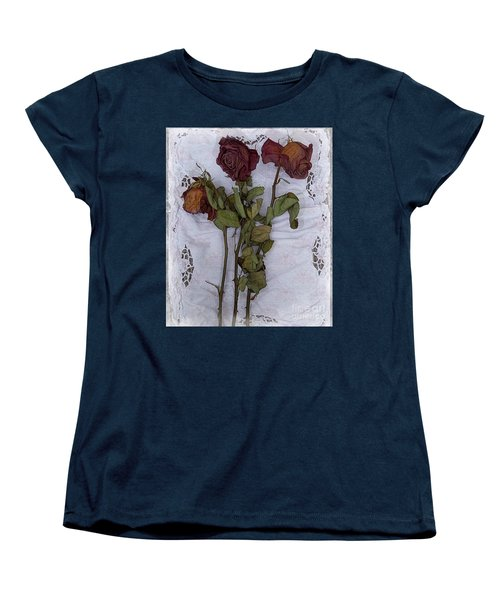 Women's T-Shirt (Standard Cut) featuring the digital art Anniversary Roses by Alexis Rotella