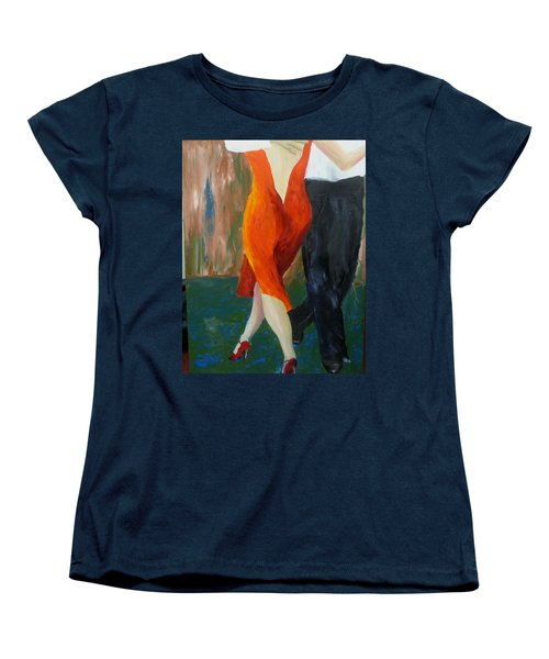 Women's T-Shirt (Standard Cut) featuring the painting Another Tango Twirl by Keith Thue