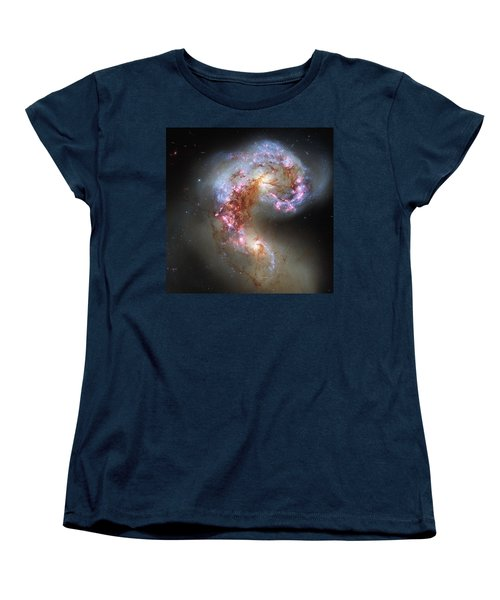 Women's T-Shirt (Standard Cut) featuring the photograph Antennae Galaxies Reloaded by Nasa