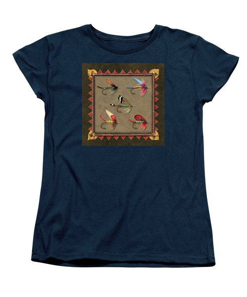 Women's T-Shirt (Standard Cut) featuring the painting Antique Fly Panel by JQ Licensing