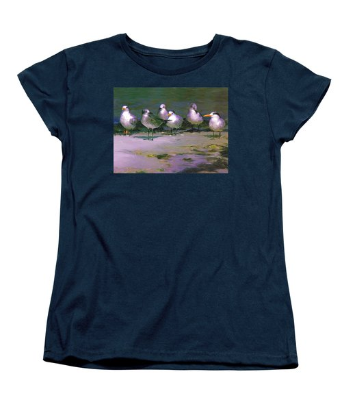 Women's T-Shirt (Standard Cut) featuring the painting Any New Gossip by David  Van Hulst