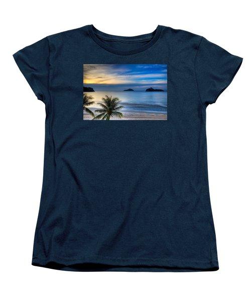 Ao Manao Bay Women's T-Shirt (Standard Cut) by Adrian Evans