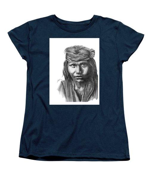 Apache Boy Women's T-Shirt (Standard Cut) by Lawrence Tripoli
