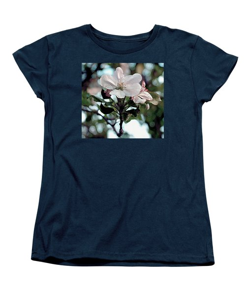 Apple Blossom Time Women's T-Shirt (Standard Cut) by RC deWinter