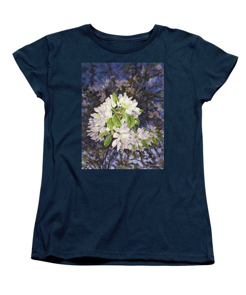 Apple Blossoms At Dusk Women's T-Shirt (Standard Cut) by Anne Gifford