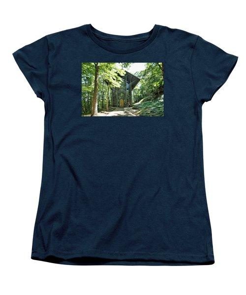 Women's T-Shirt (Standard Cut) featuring the photograph Approaching Thorncrown Chapel by Cricket Hackmann