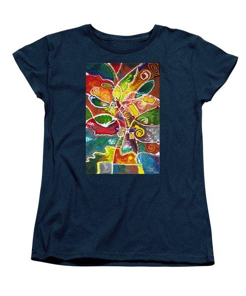 April Bouquet Women's T-Shirt (Standard Cut) by Sally Trace