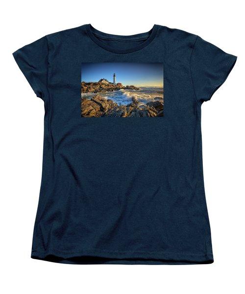 Women's T-Shirt (Standard Cut) featuring the photograph April Morning At Portland Head by Rick Berk