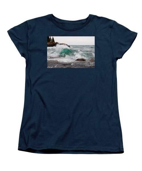 April Waves On Superior Women's T-Shirt (Standard Cut) by Sandra Updyke