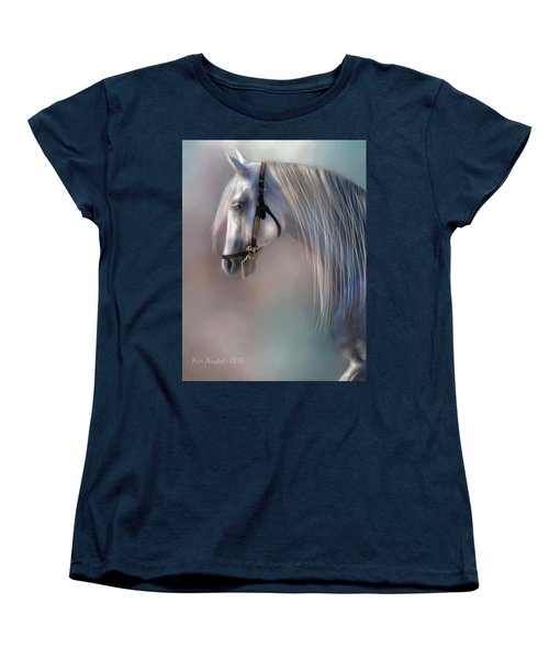 Women's T-Shirt (Standard Cut) featuring the digital art Arabian Grey by Kari Nanstad