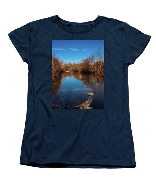 Ararat River Women's T-Shirt (Standard Cut) by Randy Sylvia