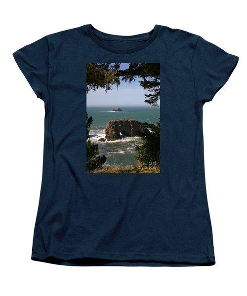 Arch Rock View Women's T-Shirt (Standard Cut) by Marie Neder