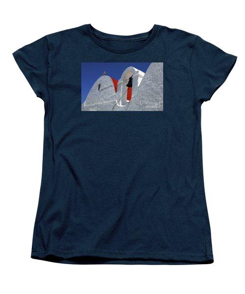 Women's T-Shirt (Standard Cut) featuring the photograph Architecture Mykonos Greece by Bob Christopher