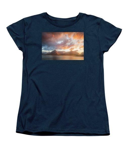 Arctic Susnset Women's T-Shirt (Standard Cut) by Maciej Markiewicz