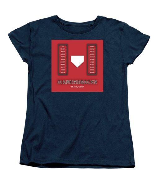 Arizona Diamondbacks Art - Mlb Baseball Wall Print Women's T-Shirt (Standard Cut) by Damon Gray
