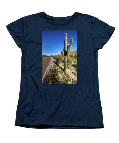 Women's T-Shirt (Standard Cut) featuring the photograph Arizona Highway by Ed Cilley
