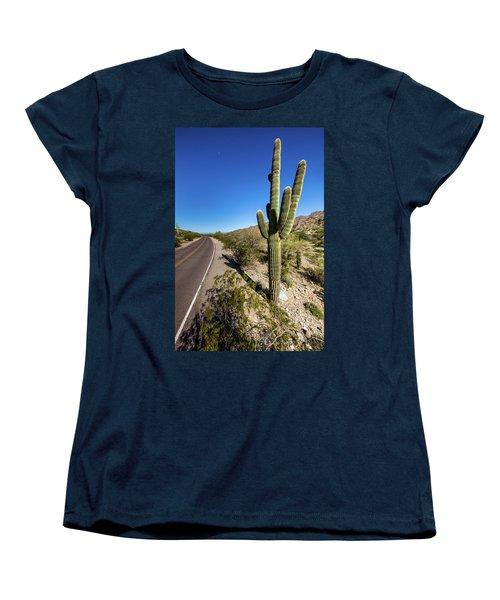 Arizona Highway Women's T-Shirt (Standard Cut) by Ed Cilley