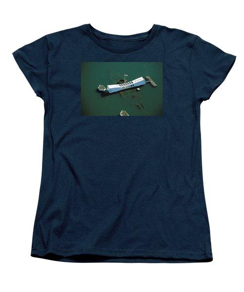 Arizona Memorial Aerial Women's T-Shirt (Standard Cut) by Dana Edmunds - Printscapes