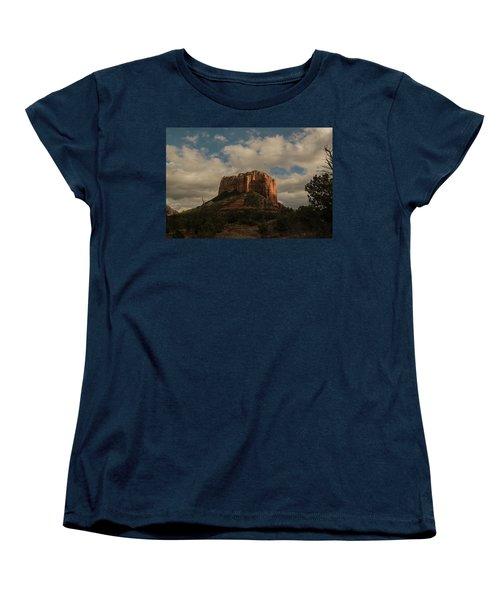 Arizona Red Rocks Sedona 0222 Women's T-Shirt (Standard Cut) by David Haskett