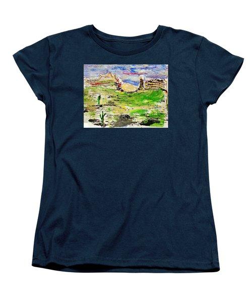 Women's T-Shirt (Standard Cut) featuring the painting Arizona Skies by J R Seymour