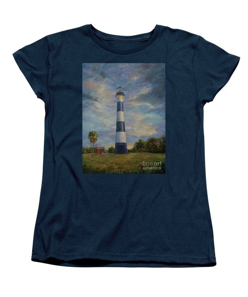 Armadillo And Lighthouse Women's T-Shirt (Standard Cut) by AnnaJo Vahle