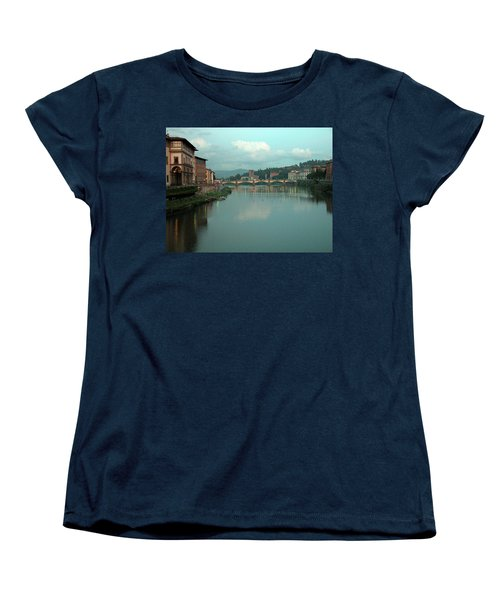 Women's T-Shirt (Standard Cut) featuring the photograph Arno River, Florence, Italy by Mark Czerniec