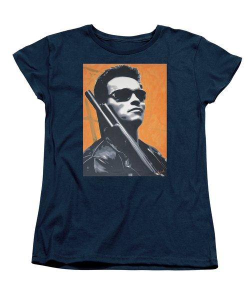 Arnold Schwarzenegger 2013 Women's T-Shirt (Standard Cut) by Luis Ludzska