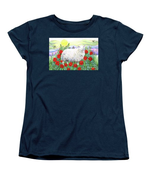 Arrival Of The Hummingbirds Women's T-Shirt (Standard Cut) by Lise Winne