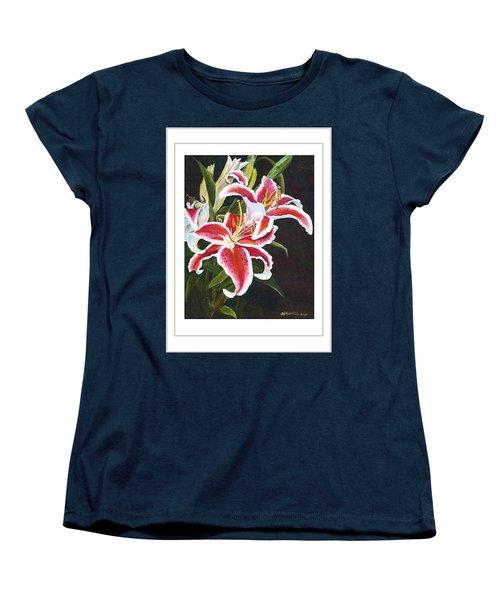 Art Card - Lilli's Stargazers Women's T-Shirt (Standard Cut) by Harriett Masterson