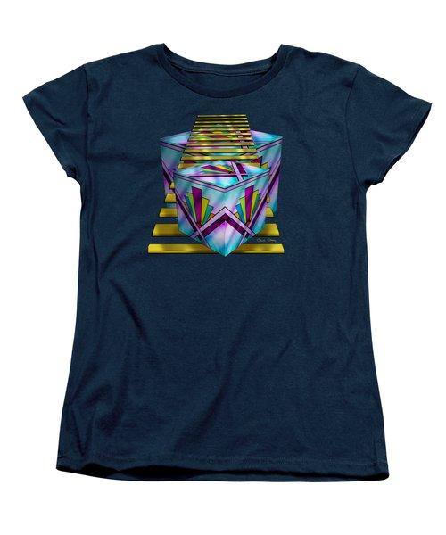 Art Deco Cubes - Transparent Women's T-Shirt (Standard Cut) by Chuck Staley