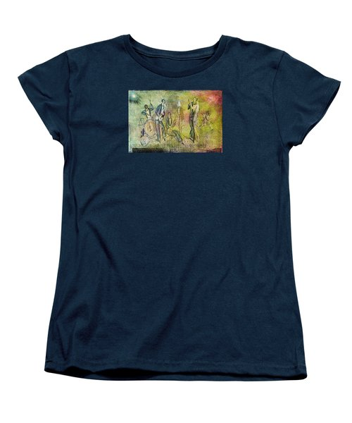 Women's T-Shirt (Standard Cut) featuring the digital art Art Deco Dancing by Bellesouth Studio