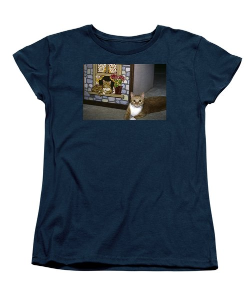 Women's T-Shirt (Standard Cut) featuring the photograph Art Imitates Life by Sally Weigand