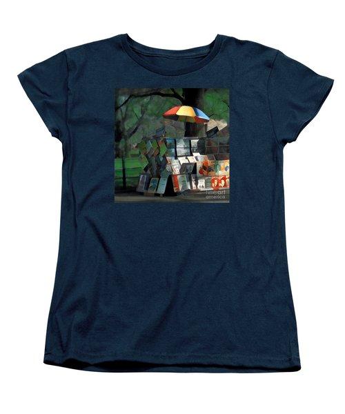 Art In The Park - Central Park New York Women's T-Shirt (Standard Cut) by Miriam Danar