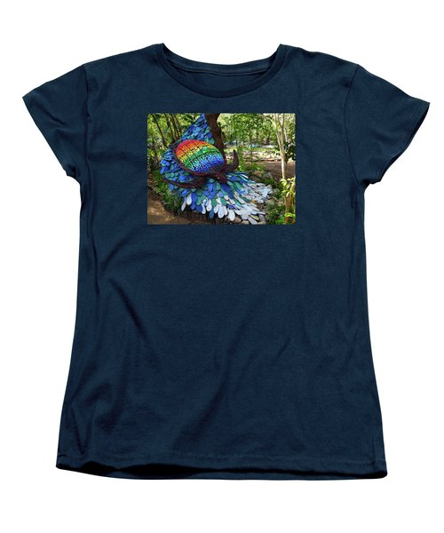 Art With Recycling - Turtle Women's T-Shirt (Standard Cut) by Exploramum Exploramum