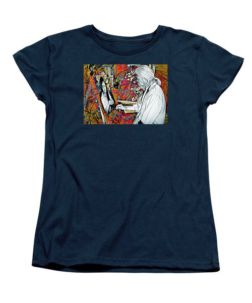 Artist In Abstract Women's T-Shirt (Standard Cut) by Ian Gledhill