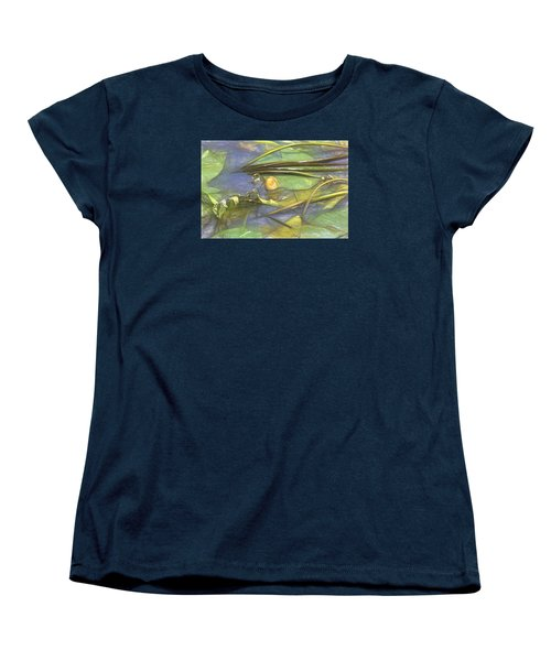 Women's T-Shirt (Standard Cut) featuring the photograph Artistic Yellow Waterlilly 2015 by Leif Sohlman