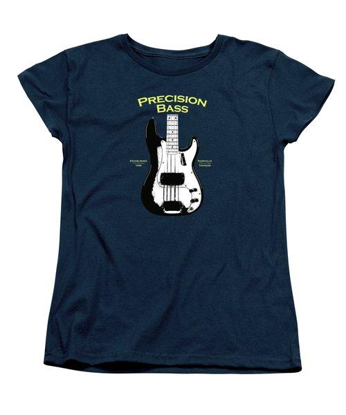 Fender Precision Bass 58 Women's T-Shirt (Standard Cut) by Mark Rogan