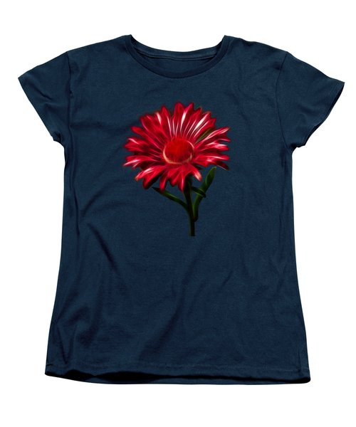 Women's T-Shirt (Standard Cut) featuring the photograph Red Daisy by Shane Bechler