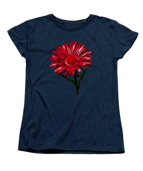 Red Daisy Women's T-Shirt (Standard Cut) by Shane Bechler